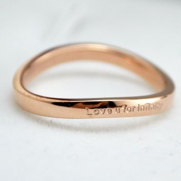 Simple Bending Titanium Ring   171206