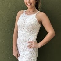 Katie Grad Dress- White