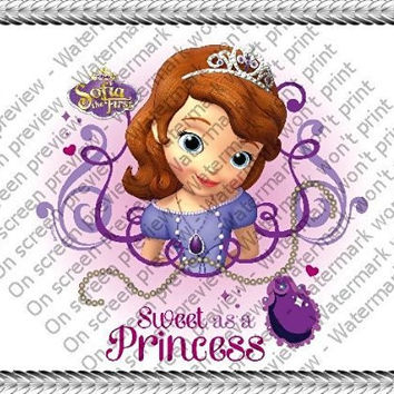 1/4 ~ Disney Princess Sofia the First Birthday ~ Edible Image Cake/Cupcake Topper!!!
