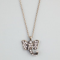 FULL TILT Rhinestone Elephant Face Necklace