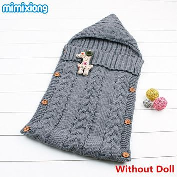 Baby Winter Sleeping Bag Newborn Toddler Hoody Stroller Sleep Sack Warm Knitted Envelope for Infant Boys Girls 0-1Y