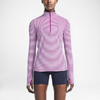 Nike Element Stripe Half-Zip Women's Running Top Size XS (Pink)