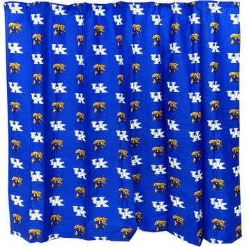 NCAA Kentucky Wildcats Shower Curtain Bathroom Decoration