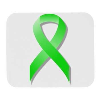 Lyme Disease Awareness Ribbon - Lime Green Mousepad