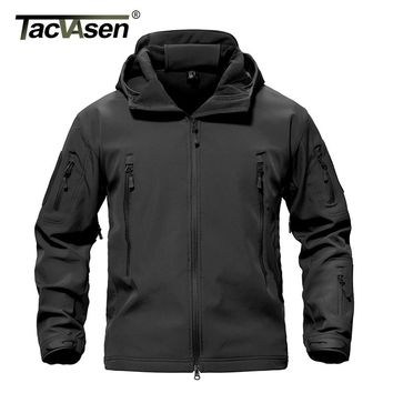 TACVASEN Army Camouflage Men Coat  Military Tactical Jackets Men Waterproof Windbreaker Raincoat Hunt Clothes TD-YCIDL-002-1