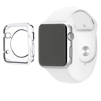 Thin + Clear TPU Protection Bumper Case Cover for Apple Watch 38mm / 42mm