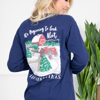 It's Beginning to Look Like Christmas | Navy | Jane Marie