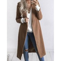 Fashion Women Long Sleeved Cardigan Jacket Coat
