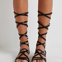 Strappy Mid-Calf Gladiator Sandals