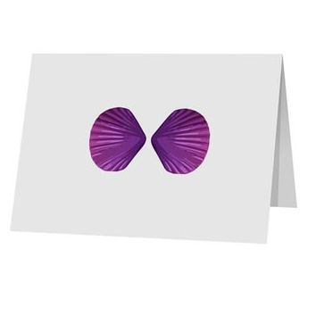 """Mermaid Shell Bra Purple 10 Pack of 5x7"""" Top Fold Blank Greeting Cards by TooLoud"""