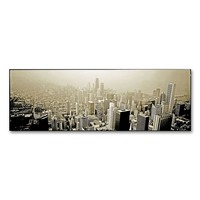 ''Chicago Skyline'' 8'' x 24'' Canvas Wall Art by Preston (Grey)
