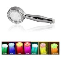 New 7 Color Romantic LED Shower Head Lights Home Water Bath