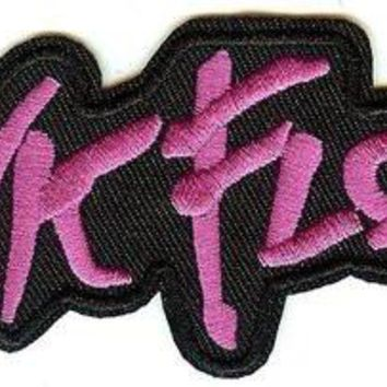 Pink Floyd Iron-On Patch Purple Letters Logo