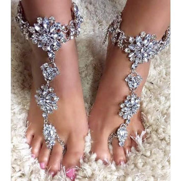 Django Wedding Barefoot Sandals