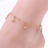 Gold Starfish Anklet