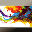 Abstract Canvas Art Painting 36x24 Original Paintings by Destiny Womack - dWo -  Beyond the Rainbow