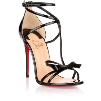New Season Christian Louboutin Blakissima 100 In Patent Black Leather EUR 39 | eBay
