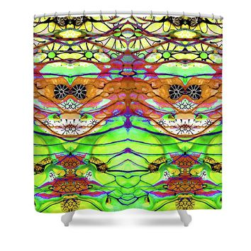Wild Flowers Abstract Art - Sharon Cummings Shower Curtain
