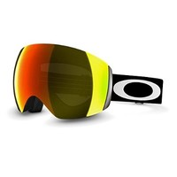 Oakley Flight Deck Ski Goggles, Matte Black/Fire Irid