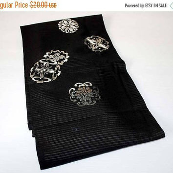 ON SALE Obi, sash, obi for Kimono, obi for yukata, textiles, Woven, japanese obi, sewing, silk fabric, craft gift, table runner, Japanese fa