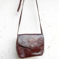 Vintage THE BRIDGE 037707 Leather Purse , Crossbody , Shoulder Bag // Small // Made in Italy