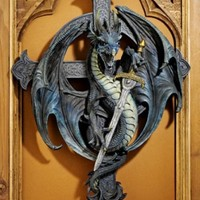Gothic Decor | Legend of the Dragon's Wall Sculpture