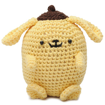Yellow Purin Pokemon Handmade Amigurumi Stuffed Toy Knit Crochet Doll VAC