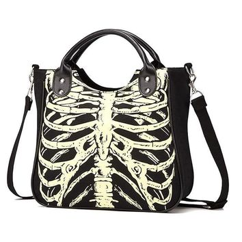 Gothic Skeleton Purse, Glow in the Dark Bag