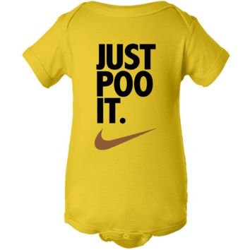 """Just Poo It"" Creeper Baby Onesuit"