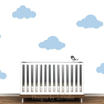 Cloud Decals for Boy or Girl Nursery