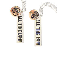 All Time Low Logo Best Friend Necklace Set