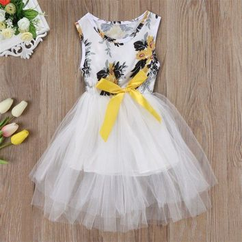 Flower Girl Kids Toddler Baby Princess Party Pageant Wedding Tulle Tutu Dresses