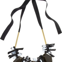 Marni|Crystal, resin and brass necklace|NET-A-PORTER.COM