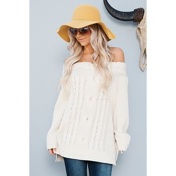 Won't Let You Go Sweater (Ivory)