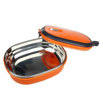 Tableware Outdoor Camping Travel  Single Stainless Steel Insulation Lunch Bento Box Food Container Bag Student  Dinner Bag