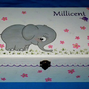 Hand Painted Baby Girl40s Keepsake BOX From EssenceOfTheSo Stunning Decorative Keepsake Memory Boxes