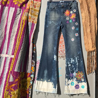 Funky Floral Jeans 9
