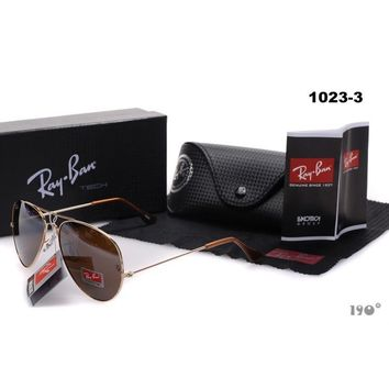 Gouka 2019 New Ray-Ban Rayban Original Unisex Aviator Sunglasses Dark Brown