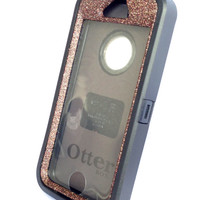 OtterBox Defender Series Case iPhone 5s Glitter Cute Sparkly Bling Defender Series Custom Case Peony Black/ Tiger's eye