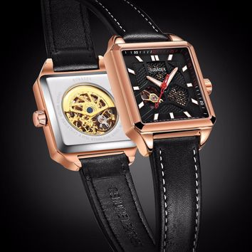 Oubaoer Architect Series Automatic Mechanical Watch Men Luxury Brand Rose Gold S