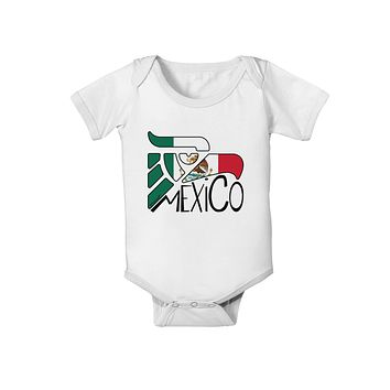 Mexico Eagle Symbol - Mexican Flag - Mexico Baby Romper Bodysuit by TooLoud
