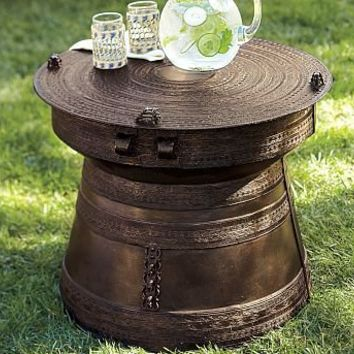 Frog Rain-Drum Accent Table | Pottery Barn