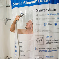Social Facebook Shower Curtain
