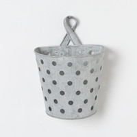 Dotted Zinc Wall Bucket