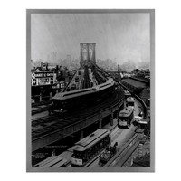 Historical New York City Poster Brooklyn Bridge