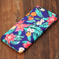Classy Blue Floral Design iPhone 6s Case/Plus/5S/5C/5/4S Protective Case #735