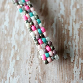 French Barrette In Multi Color Brights And Pastels, For Long Hair