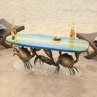 Crab Surfboard Table
