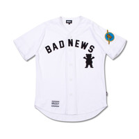 1976 Bad News Baseball Jersey in White