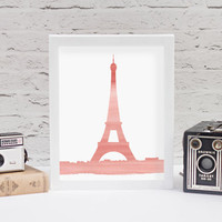 Watercolor Eiffel Tower Printable // Printable Wall Art // Paris Wall Art // Eiffel Tower Decor